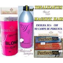 Po Descolorante #rosa,ox 40vl + Tonalizant Magnific Hair