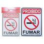 Placa Indicativa Proibido Fumar Barato