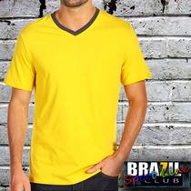 Camiseta Gola V - Modelo N-color - 100% Algodão