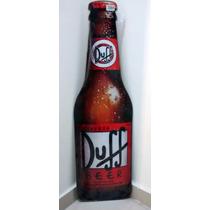 Placa Formato Garrafa Duff Cerveja Mdf Decoração Bar Decorar