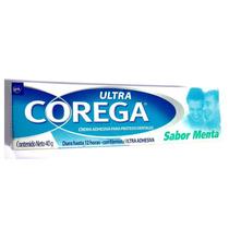 Corega Ultra Fixador Creme Sabor Menta 40g