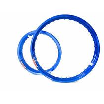 Aro Moto Aluminio Colorido Ybr E Ybr Factor 125 150 Azul