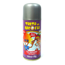 Spray Colorir Cabelos Tinta Da Alegria Carnaval Prata