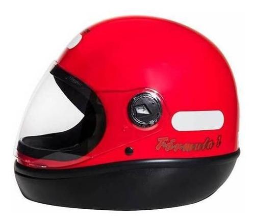 Capacete Para Moto Integral San Marino Classic Vermelho Tamanho 56
