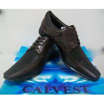 Lindo Sapato Social Calvest Couro Legítimo - Ref:1320b165