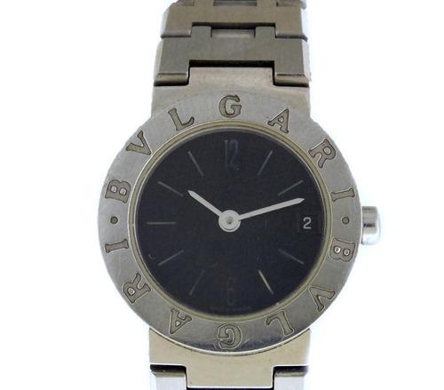 Relógio De Pulso Feminino Bvlgari Todo Em Aço J17292 bffa2eeac7