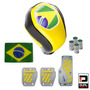 Kit Copa Do Mundo Completo Interior Automotivo Amarelo Preto