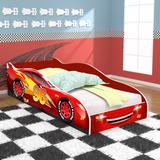 Cama Carros 96 Infantil C/ Colchão 100% Mdf Vermelha