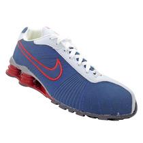 Tênis Nike Shox Turbo V Azul Marinho E Vermelho