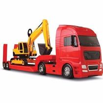 Caminhão Diamond Truck Com Escavadeira Roma 1327