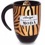 Caneca Porcelana Estampa Zebra Preta E Dourada - Amiga Bff