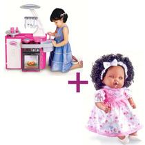 Cozinha Infantil Classic Cotiplás + Boneca Angelina Negra