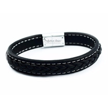 Pulseira/corrente/bracelete/algema Masculina Couro Nerio