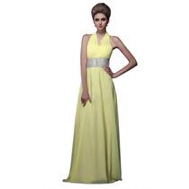 Vestido De Noite De Festa De Dama De Honra Amarelo