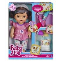 Baby Alive Bons Sonhos Morena - Faz Xixi E Escova O Dentinho