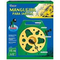 Mangueira Chata P/ Jardim 15 Metros C/ Suporte Western M-15