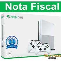 Xbox One S 1tb 4k+2 Controles+nota Fiscal Garantia De 1 Ano