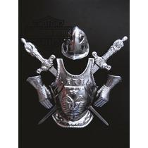 Armadura Medieval Espanhola Em Alumínio 6 Peças Frete Grátis