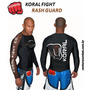 Camiseta Lycra Rash Guard Pro Comp Koral Marrom Manga Longa