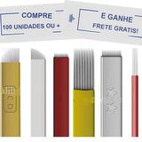 Lamina Tebori Microblading 11,9,12, 14 Pontas Hard Flex