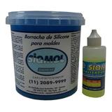 Borracha De Silicone Azul Escuro - Siqmol 6008 (lançamento)