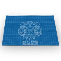 Jogo Americano Homem De Ferro Hulk Buster Blue Print 46x33cm
