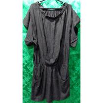 Vestido De Linho Marca Zara Basic Tm/ M