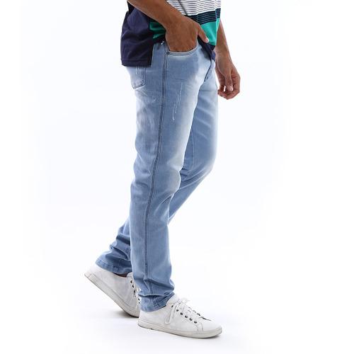 02b0442b9 Kit Com 3 Calças Jeans Masculinas Slim Com Lycra   Elastano
