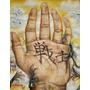 Pintura Mão Alfabeto Japonês Kanji Original