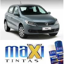 Tinta Spray Automotiva Vw Cinza Vulcan + Verniz 300ml