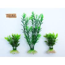 Folhagem Aquário Planta Artificial Decorativa Kit 3 Peças