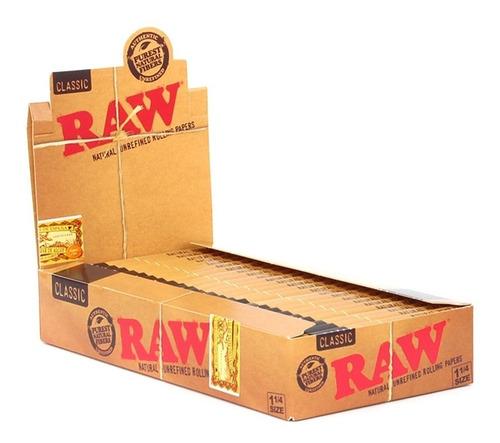 Caixa Seda Raw Classic 1 1/4 Slim Original Promoção Full
