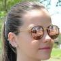 Oculos Sol Ray Ban Round Dobrável Rose Azul Verde Italia