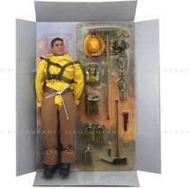 Boneco Importado Tipo Falcon Gijoe Action Man Bombeiro 30 Cm