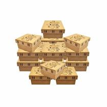100 Caixas De Noivos Corte Desenho Passa Fita 10x10x5,5 Mdf