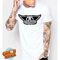 Camiseta Branca Aerosmith Hard Rock Blues Steven Tyler 2