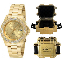 65b475aaa8c Relógio Invicta Feminino 19513 Original Banhado Ouro Maleta à venda ...
