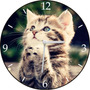 Relógio De Parede Em Disco De Vinil, Gatinho, Gato