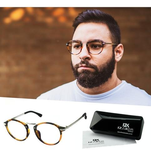 b9646d802 Armação Óculos Grau Masculino Retro Geek Isabela Dias 5885