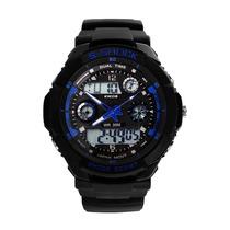 Relogio Led Rk02 Azul Kikos Cronometro Loja Japan Trade