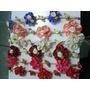 Frete Grátis 3 Unidades Tiara De Flor Tecido