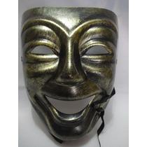 Mascara Teatro Dourada Comedia Riso Carnaval Festa Vintage