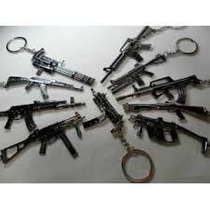 Chaveiro Replica De Armas De Guerra Em Metal
