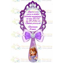 Convite Princesa Sofia Formato Espelho Em Pvc C/ Imã - 20uni