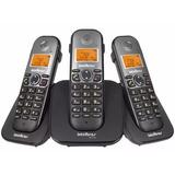 Telefone Sem Fio Intelbras Com 2 Ramais Ts5123 E Viva Voz