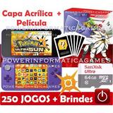 New 2ds Xl 64gb 250 Jogos + Capa Acrílica + Película + Fonte