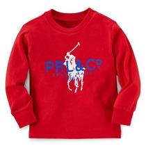 Roupas De Bebe Camiseta Mangas Longas - Polo Ralph Lauren