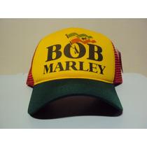 Boné Bob Marley Reggae Trucker Snapback