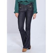 Calça Jeans Flare Feminina Sawary