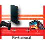 Playstation 2   Completo  1 Controles 5 Jogos barato
